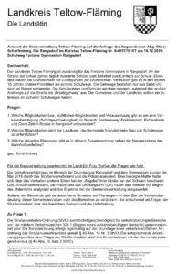 Sichere Schulwege in Rangsdorf Anfrage von Oliver Scharfenberg