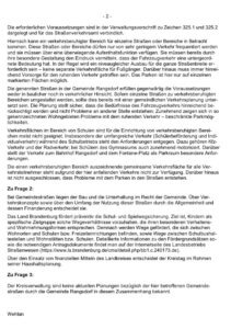 Sichere Schulwege in Rangsdorf Anfrage von Oliver Scharfenberg und Antwort der Kreisverwaltung Teltow Fläming